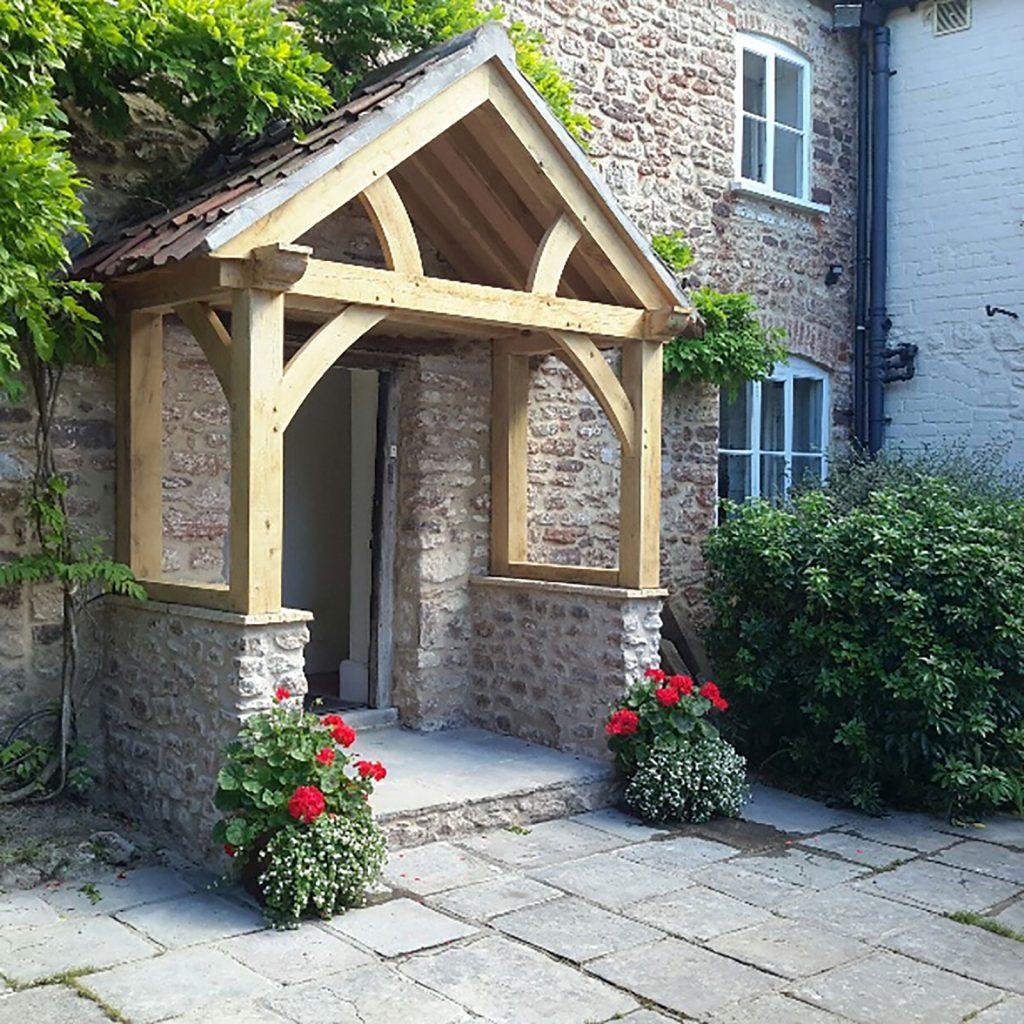 Low Brick Plinth Porch