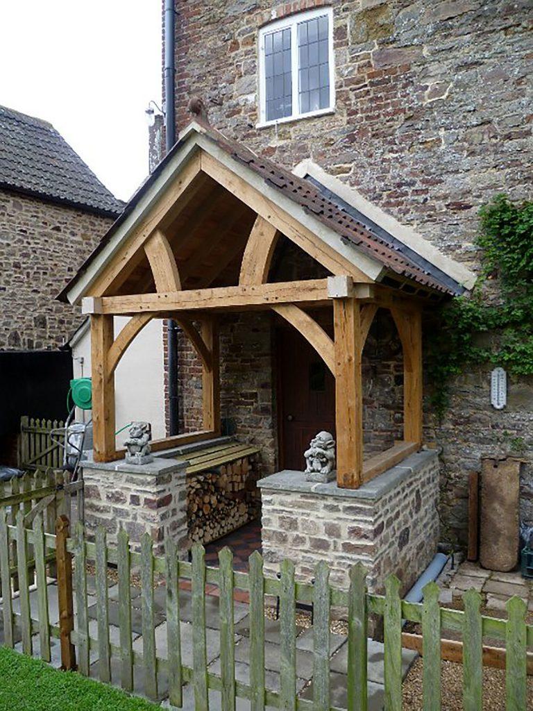 High Brick Plinth Porch
